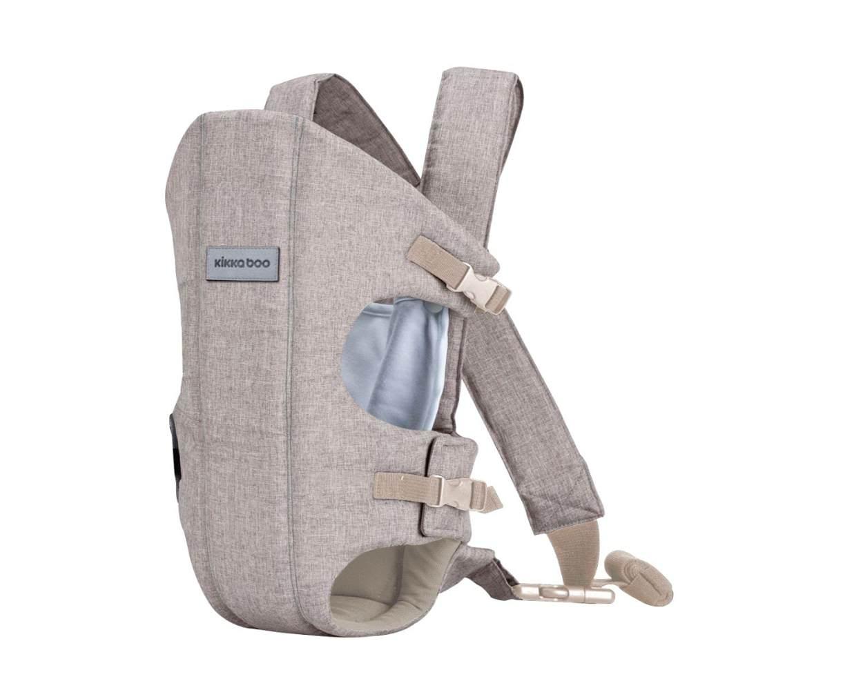 Kikkaboo Babytrage Gwen Bauchtrage Rückentrage breite Schultergurte, verstellbar beige Bild 1