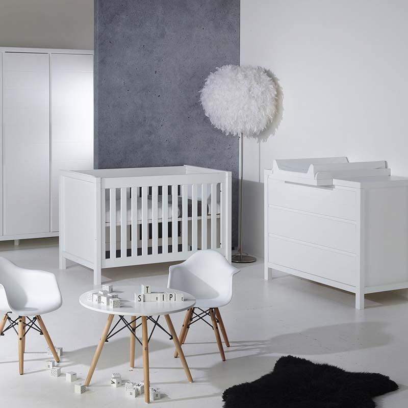 Quax 'White' Stripes 3-tlg. Babyzimmer-Set 2-Türig Bild 1