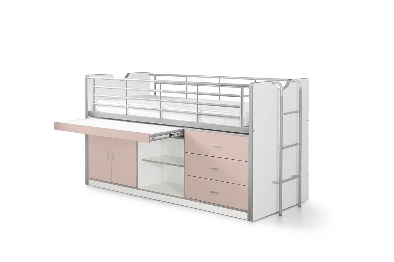 Vipack 'Bonny' Multifunktionsbett weiß/rosa Bild 1