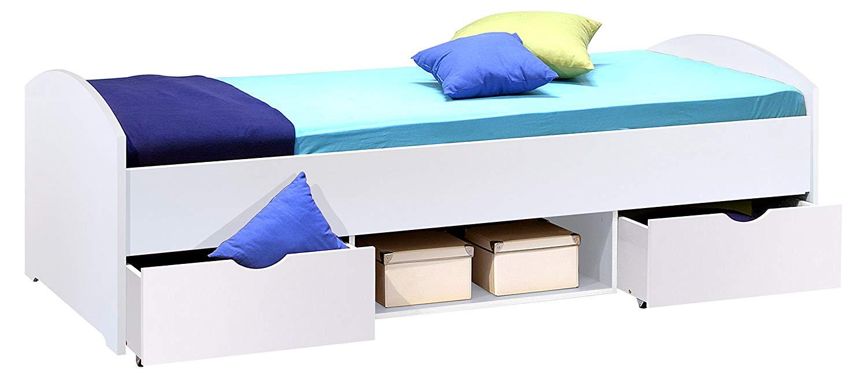 Bega 'Nemo' Einzelbett weiß, 90x200 cm, inkl. Schubkästen Bild 1