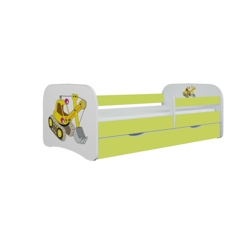 Kinderbett Jona inkl. Rollrost + Matratze + Bettschublade in weiß, blau, rosa oder grün 70*140 cm Grün Bild 1