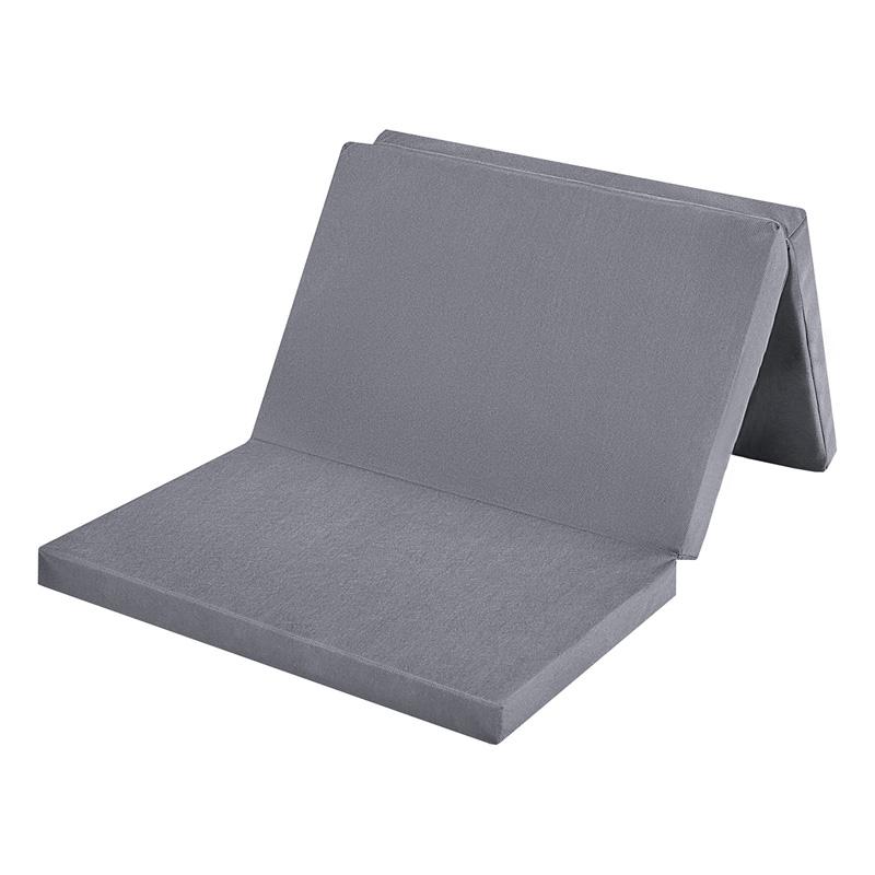 BABY-PLUS Reisebettmatratze 60x120 cm, grau, klappbar mit Transporttasche Bild 1