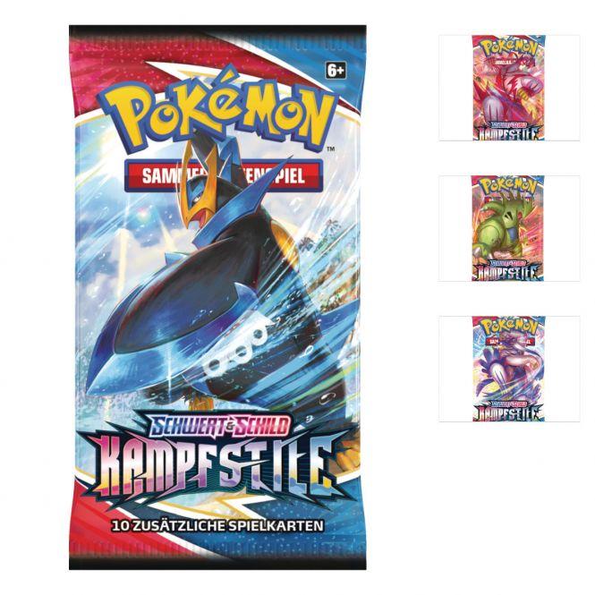 Pokémon - Booster Kampfstile - SWSH05 - Sammelkartenspiel - 1 Booster, zufällige Auswahl Bild 1