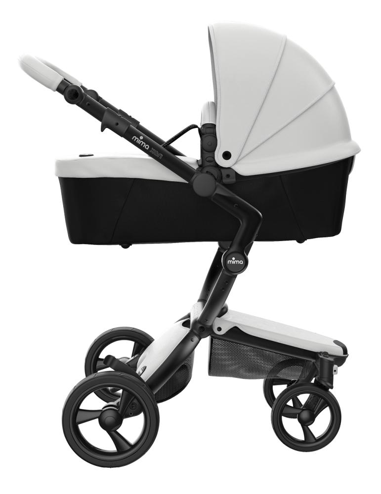 Mima Xari Design Kinderwagen Kollektion 2021 Schwarz (Schwarze Räder) Schnee Weiss Bild 1