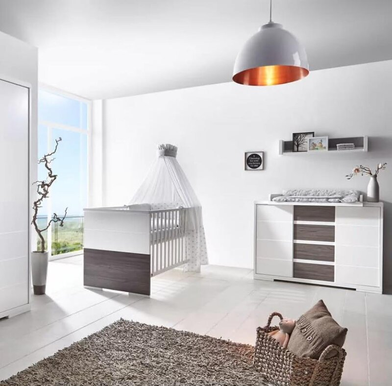 Schardt 'Maxx Fleetwood' 2-tlg. Babyzimmer-Set inkl. Kinderbett und Wickelkommode Bild 1