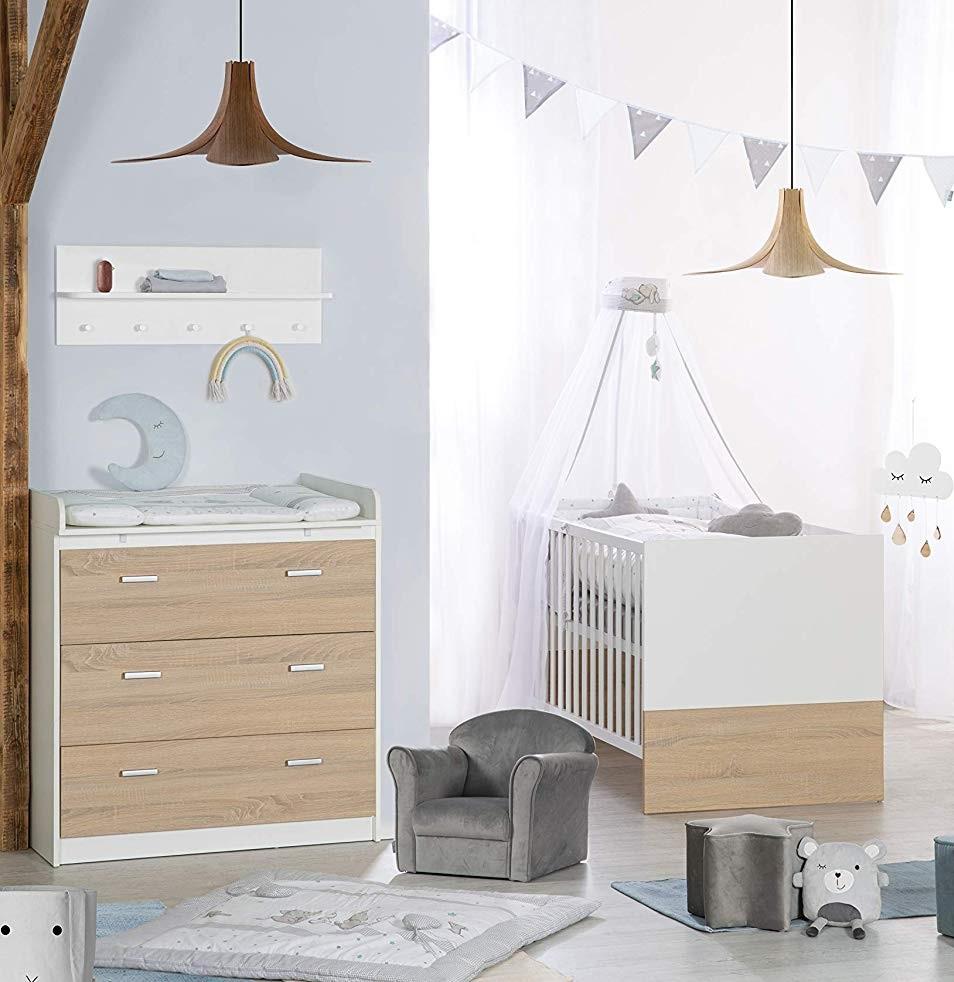 Roba 'Gabriella' 2-tlg. Kinderzimmerset natur/weiß inkl. Kinderbett und Kommode (klein) Bild 1