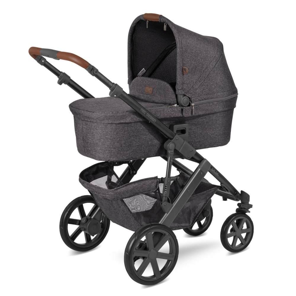 ABC Design 'Salsa 4' Kombikinderwagen 4plusin1 Set L street inkl. Babyschale graphite grey, Wickeltasche, Fußsack, Basisstation und Adapter Bild 1