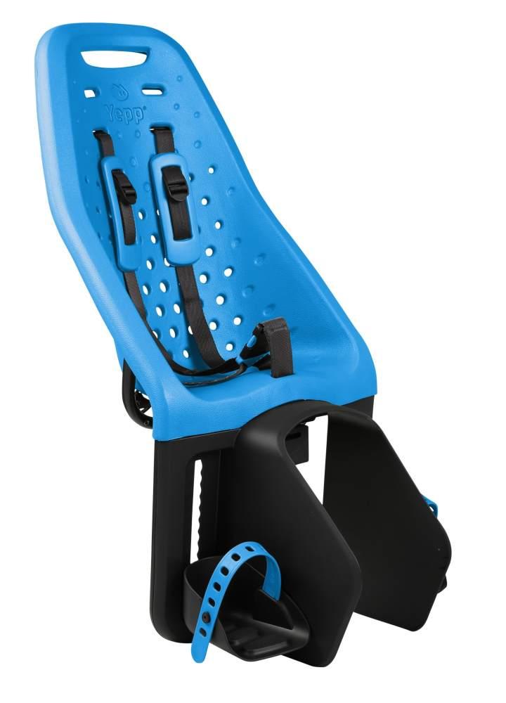 Thule 'Yepp Maxi' Kinderfahrradsitz blau, bis 22 kg, inkl. Gepäckhalterung Bild 1