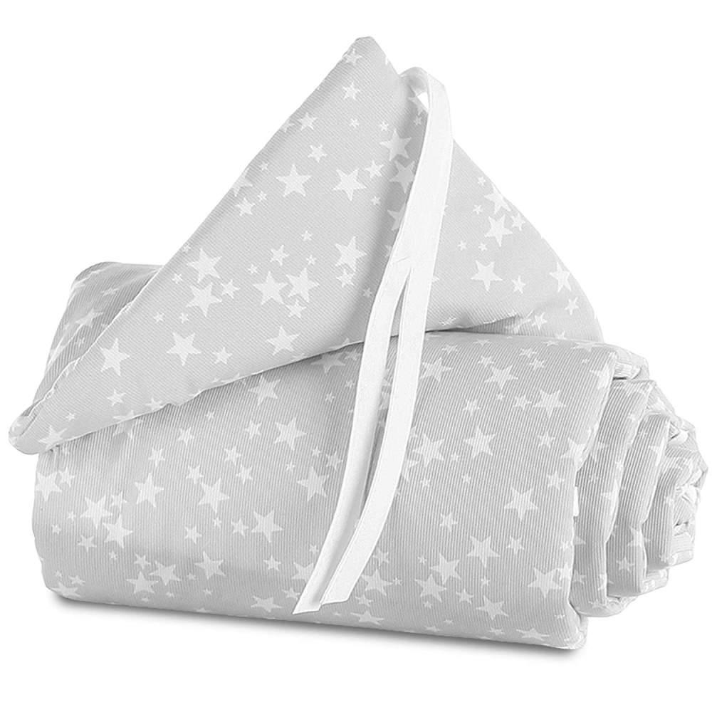 Babybay 'Piqué' Bettnestchen für Babybay Original grau/weiß,Sterne Bild 1