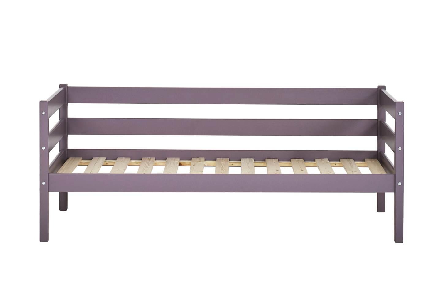 Hoppekids 'Ida-Marie' Einzelbett, lavender, Kiefer massiv, inkl. Rolllattenrost, 70x160cm, nachhaltig Bild 1