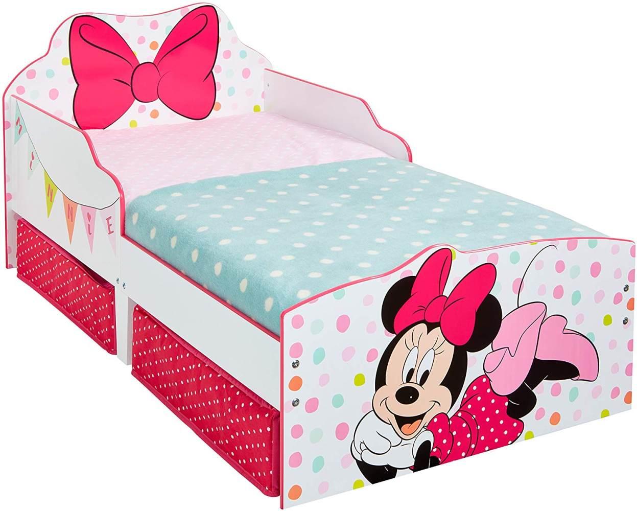 Worlds Apart 'Minnie Mouse' Kinderbett, weiß/pink, 70x140 cm, inkl. 2 Textilschubladen Bild 1