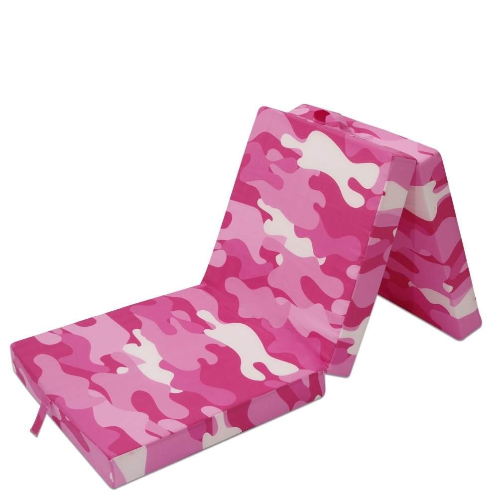 Wolkenwunder Klappmatratze, Militäry Pink 190x70x9 cm Bild 1