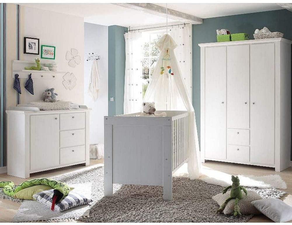 Storado 'Dandy' 5-tlg. Babyzimmer-Set anderson pine, inkl. Kinderbett, Wickelkommode, Kleiderschrank, Wandregal und Lattenrost Bild 1