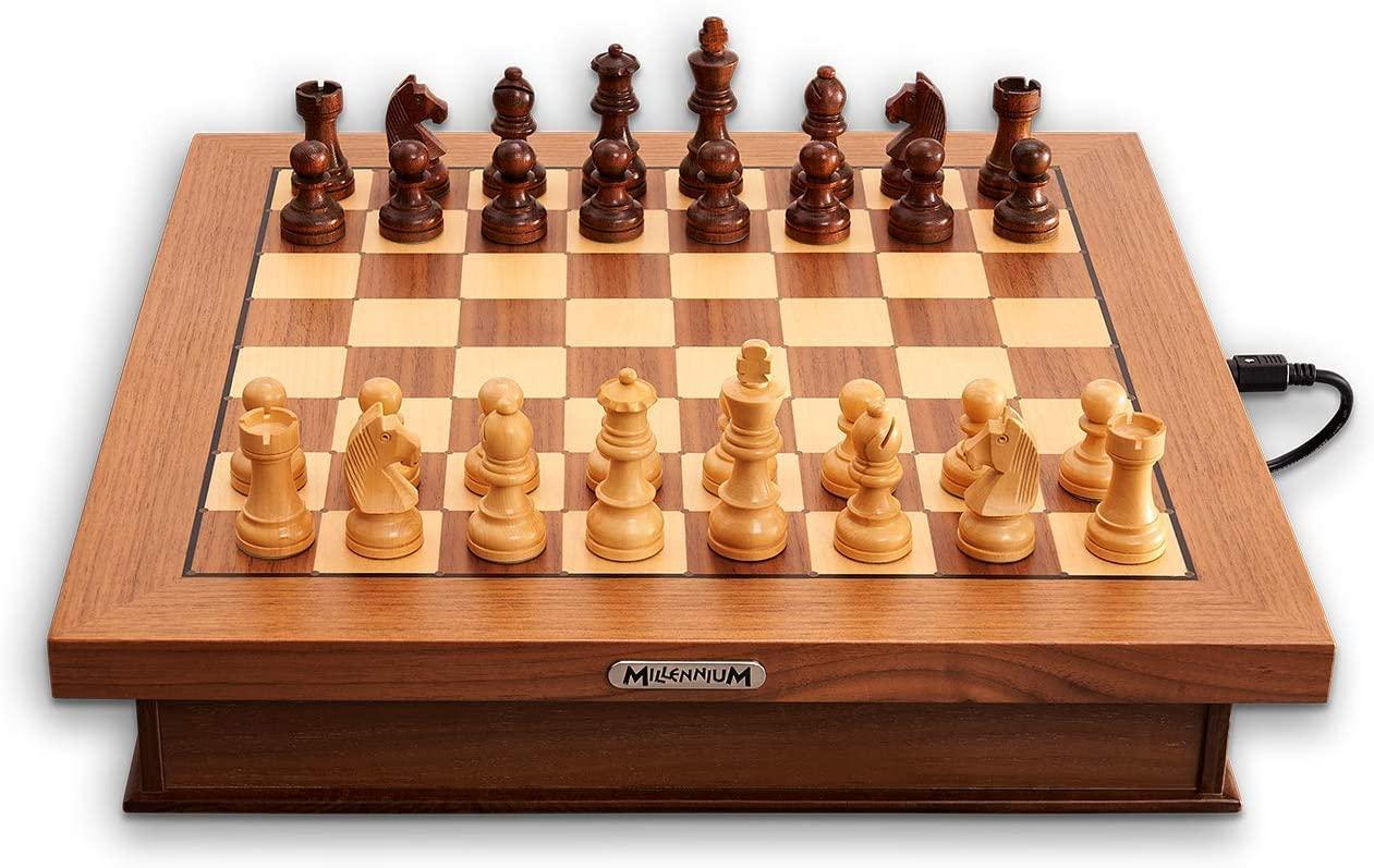 MILLENNIUM 'Exclusive Luxe Edition' Brettspiel, ab 6 Jahren, 1 - 2 Spieler, E-Board, Schach Bild 1