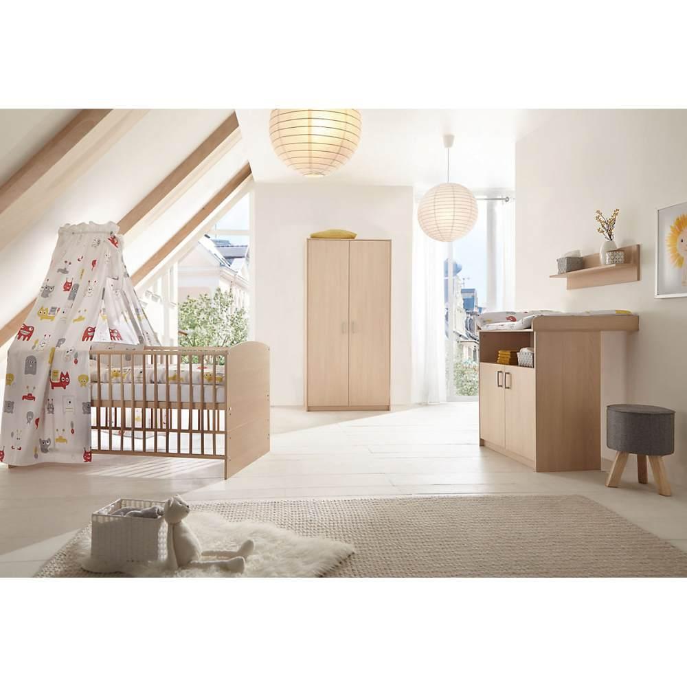 Schardt 'Classic Buche' 3-tlg. Babyzimmer-Set Schrank 2-türig Bild 1