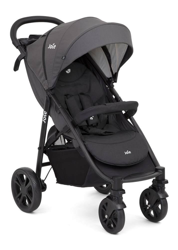 Joie 'Litetrax 4' Sportkinderwagen 2020 Coal mit Luftkammerrädern inkl. Tablett mit Getränkehalter und Regenschutz Bild 1