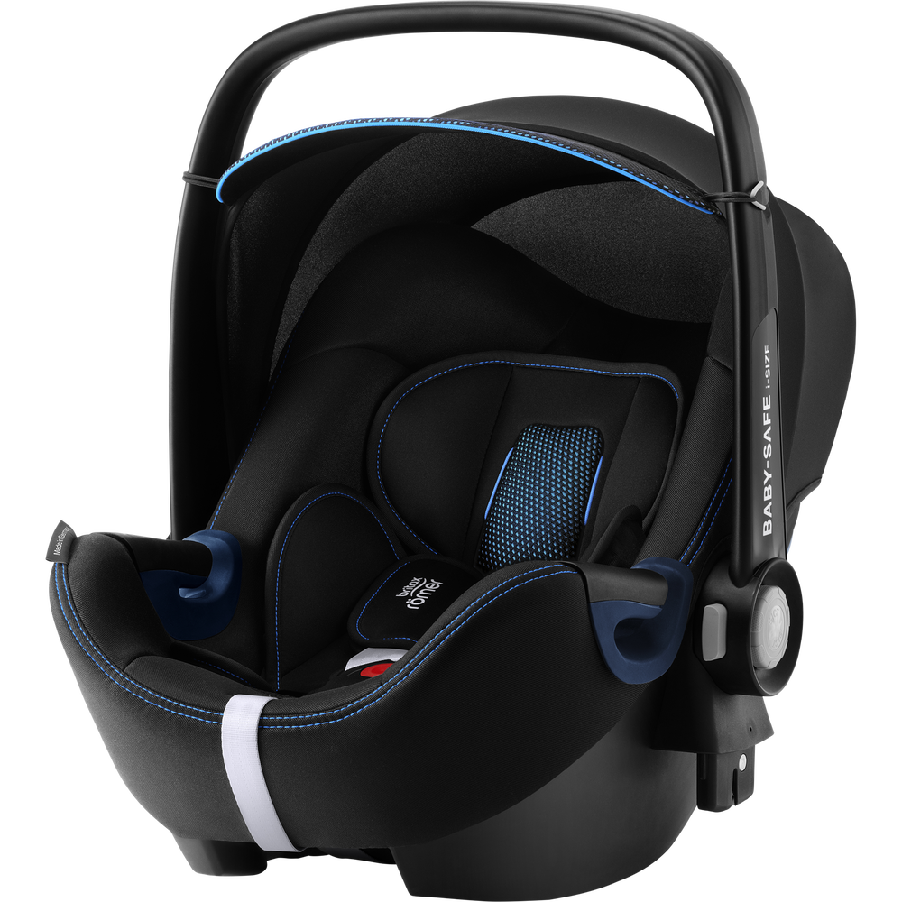Britax Römer 'Babysafe 2 i-Size Cool FLow' Babyschale 2020 Blue Gruppe 0+, mit Base Bild 1