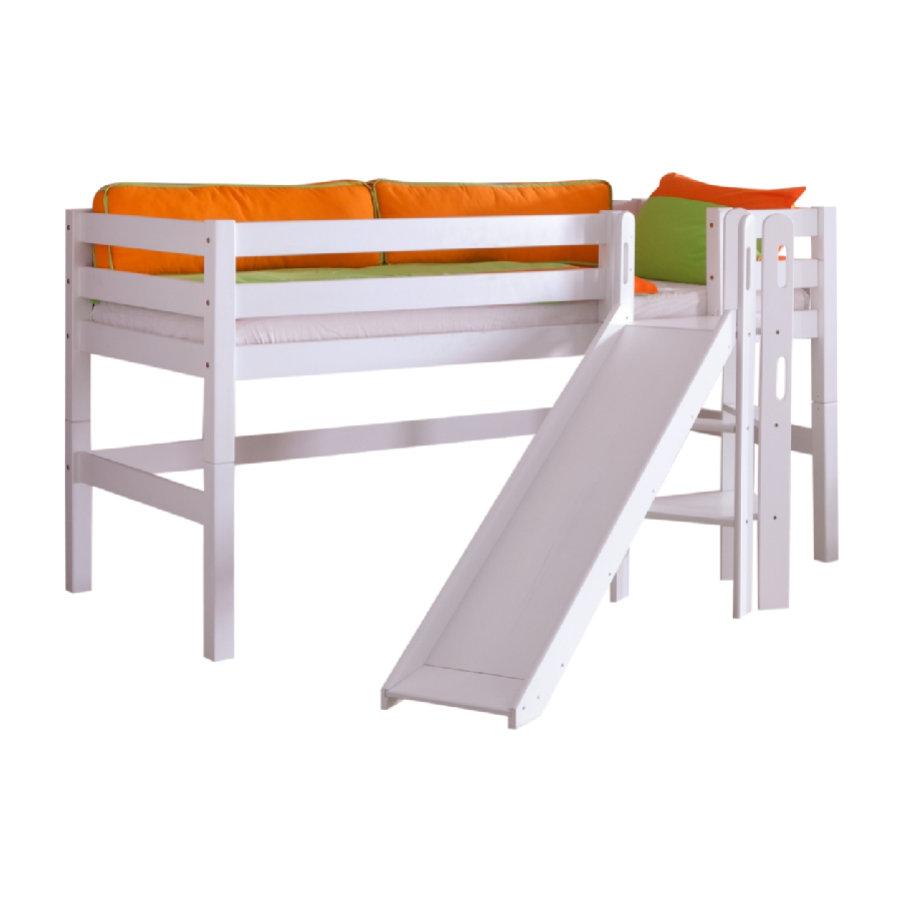 Relita 'Eliyas' Spielbett mit Rutsche weiß Bild 1