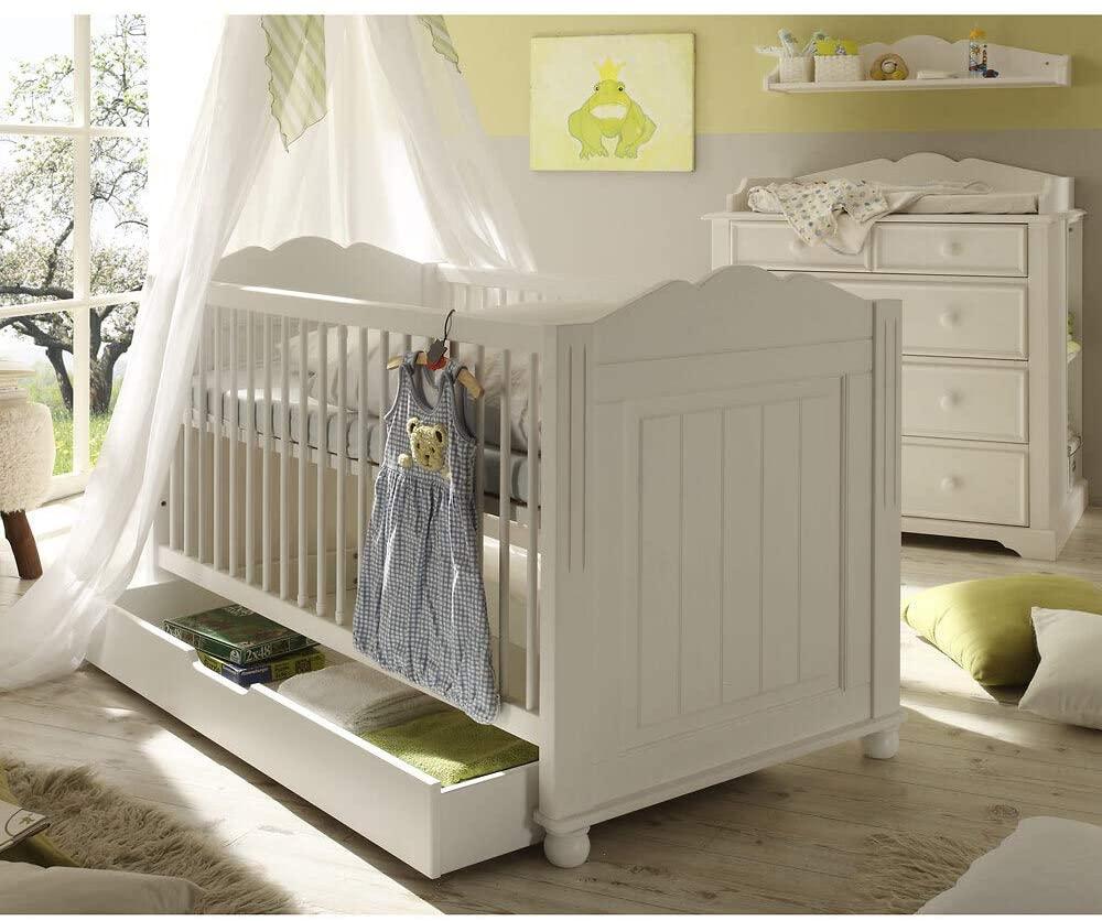 Landhaus Babyzimmer Set MARINO-78 mit Babybett und Wickelkommode 6-teilig Bild 1