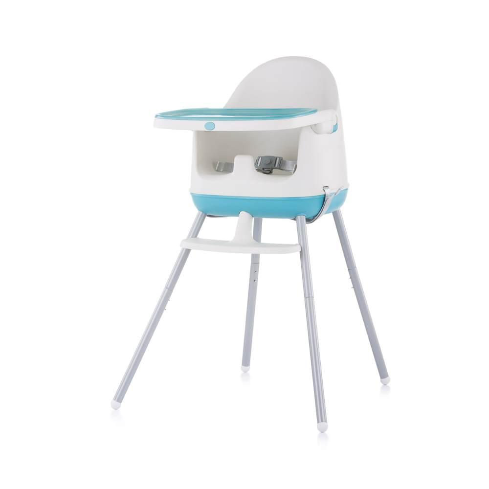 Chipolino Hochstuhl 3 in 1 Pudding Sitzerhöhung, Tablett, Fußstütze, Kinderstuhl blau Bild 1
