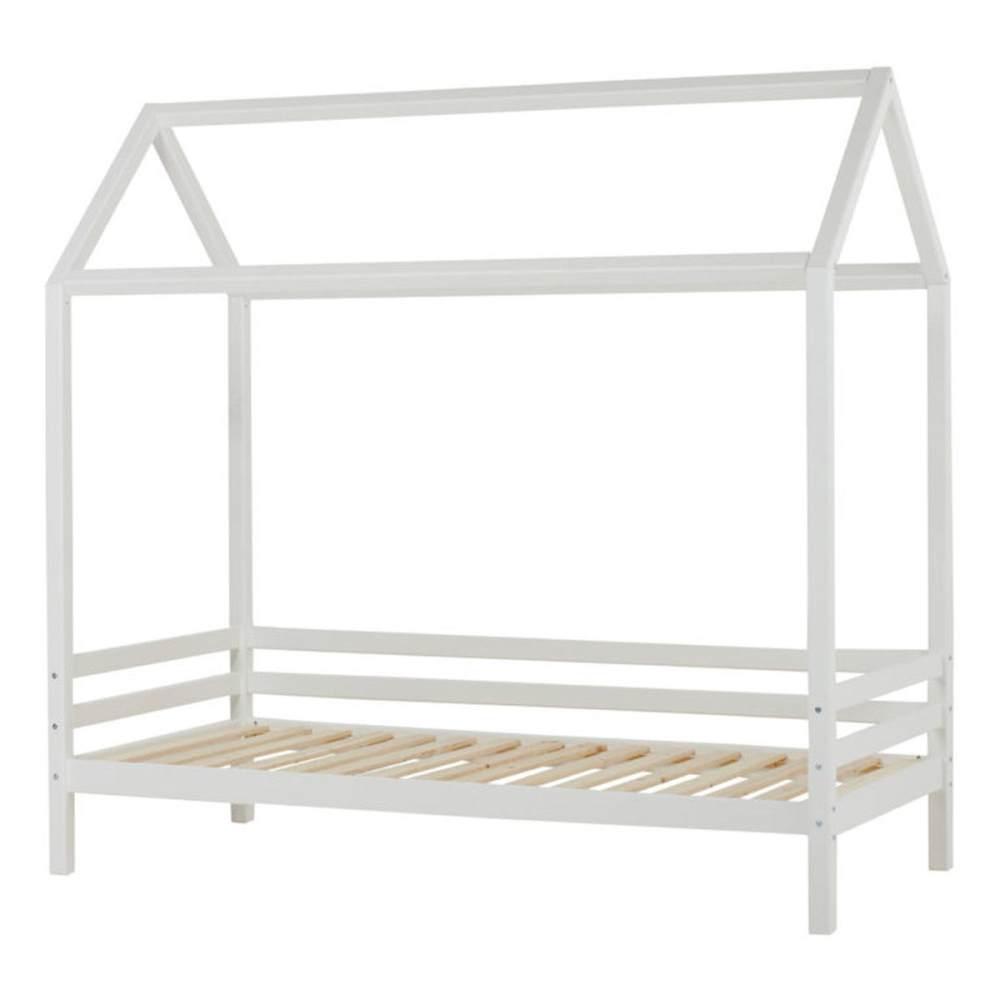 HOPPEKIDS 'Basic' Hausbett 90x200 cm, Weiß, mit Lattenrost Bild 1