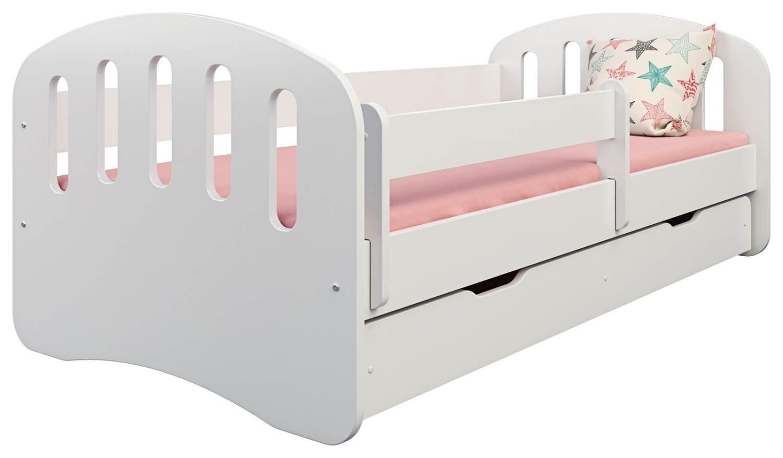 Clamaro 'Joy' Kinderbett 80x160 cm, weiß, inkl. Matratze, Lattenrost und Bettkasten Bild 1