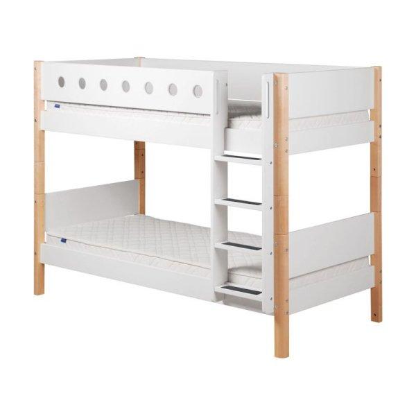 Flexa 'White' Etagenbett weiß/natur, 90x200 cm Bild 1