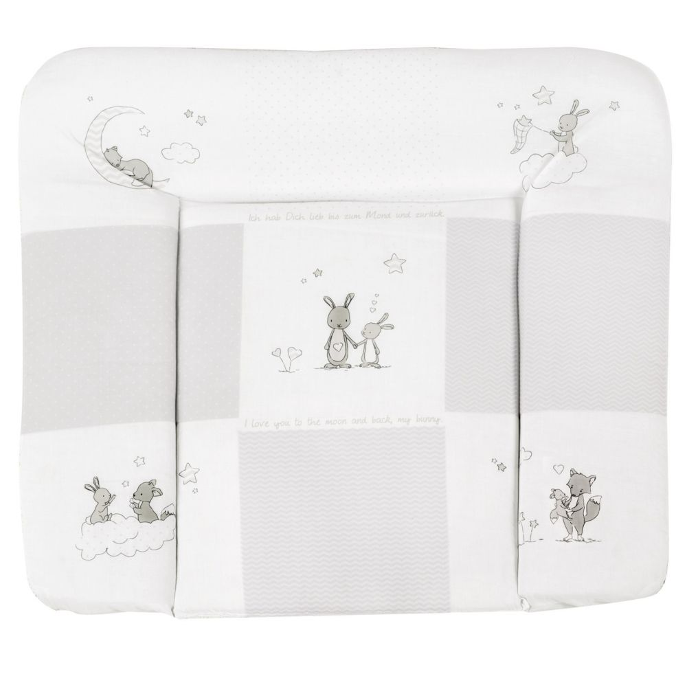 Roba 'Fox & Bunny' Wickelauflage 75 x 85 cm beige Bild 1
