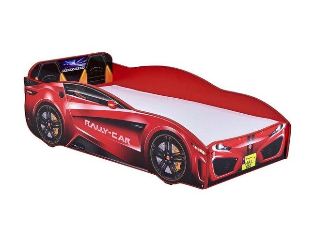 Relita Autobett Rallycar rot 80x160 cm inkl. Rollrost + Matratze Bild 1