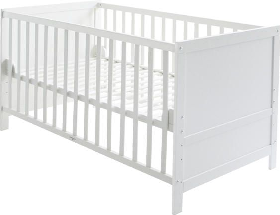 roba 'Lene' Kombi Kinderbett, weiß, 70 x 140 cm, Lattenrost 3-fach höhenverstellbar Bild 1