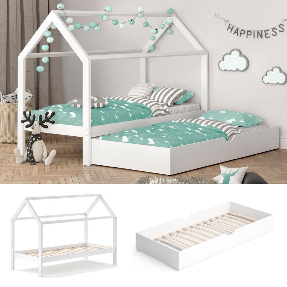 VitaliSpa 'Wiki' Kinderbett 90x200 cm weiß, inkl. Bettschublade Bild 1