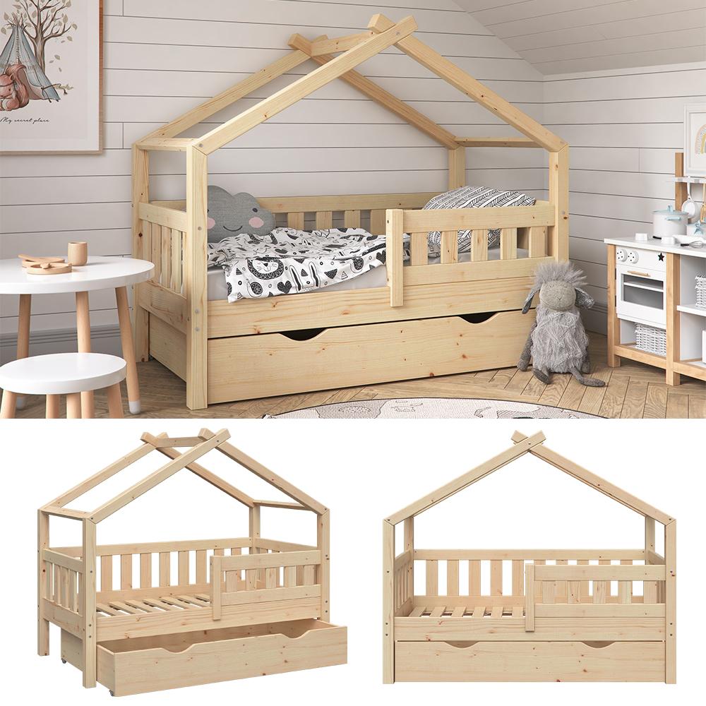VitaliSpa 'Design' Kinderbett 70 x 140 cm, natur, Massivholz Kiefer, inkl. Schublade Bild 1