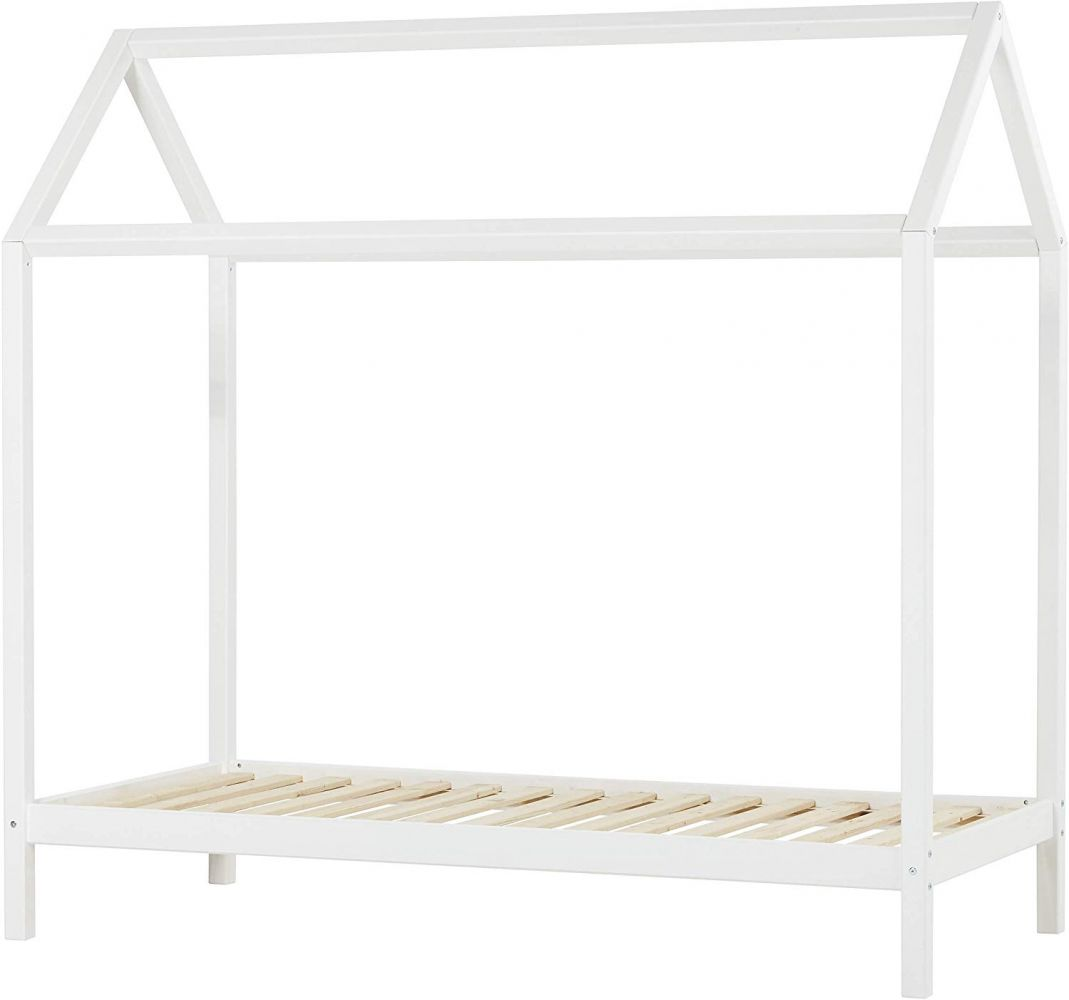 Hoppekids 'Basic' Hausbett 90x200 cm, weiß, inkl. Lattenrost, nachhaltig Bild 1