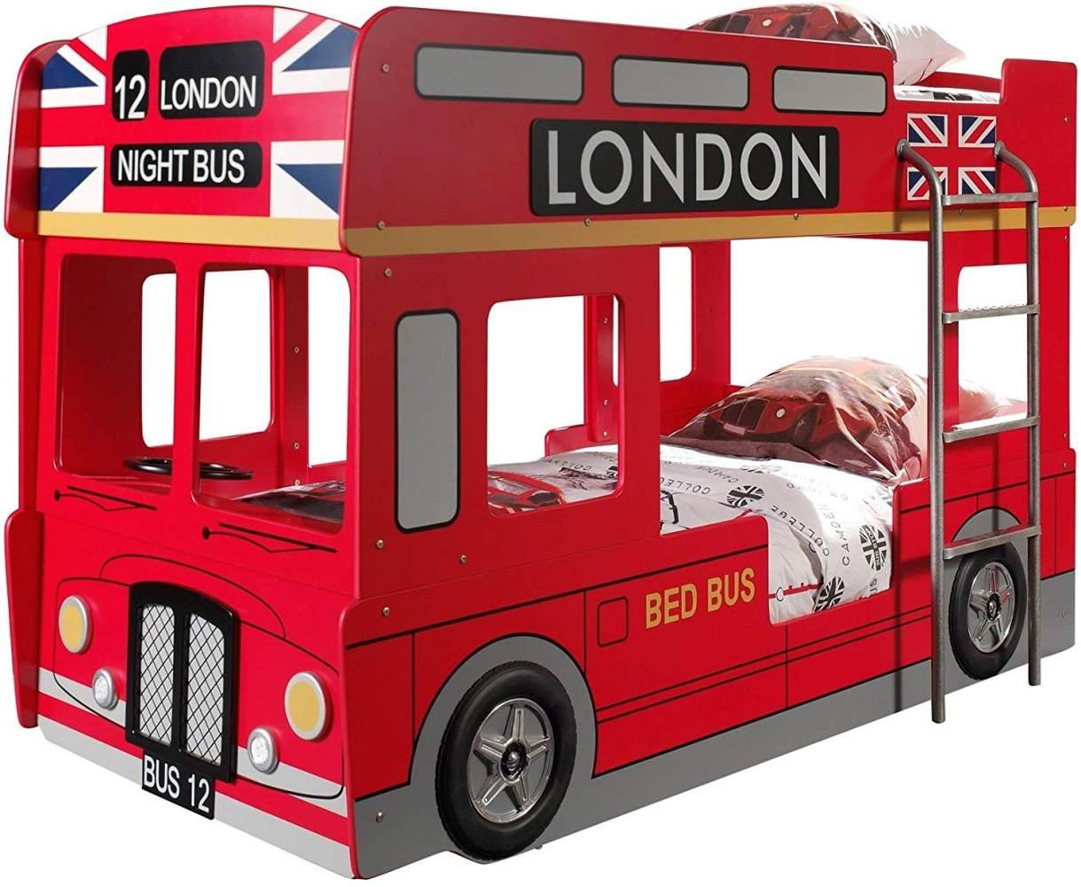 Vipack 'London Bus' Spielbett 90x200 Bild 1