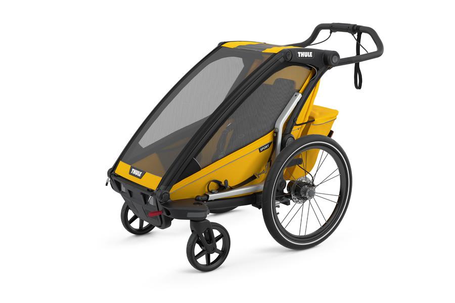 Thule 'Chariot' Fahrradanhänger Set + Thule Babysitz Sport 2 Spectra Yellow Bild 1