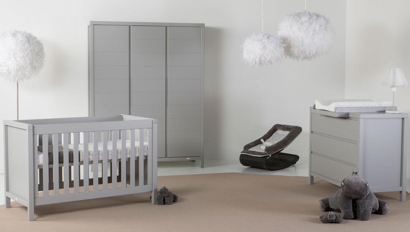 Quax 'Stripes' 3-tlg. Babyzimmer-Set Griffin Grey 60 x 120 cm 3-Türig Bild 1