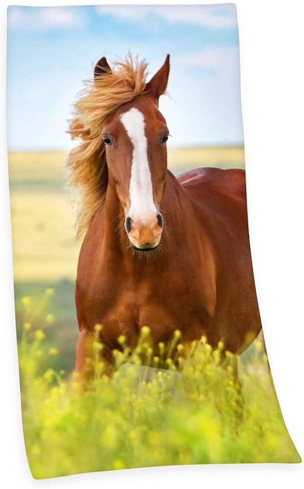 Herding Badetuch Pferde 75 x 150 cm Bild 1