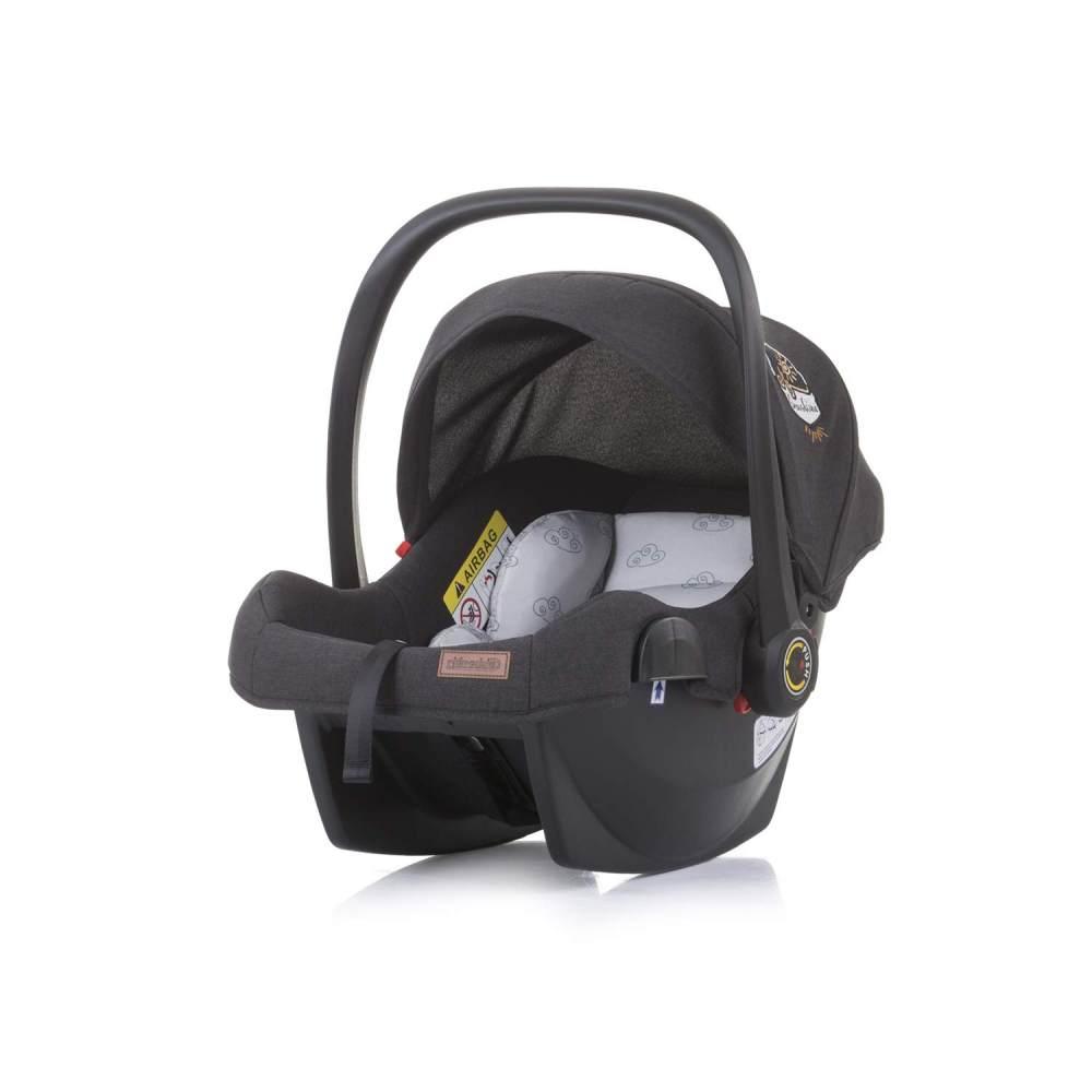 Chipolino 'Duo Smart' Babyschale Gruppe 0+ (0 - 13 kg), Sonnendach faltbar, Kissen hellgrau Bild 1