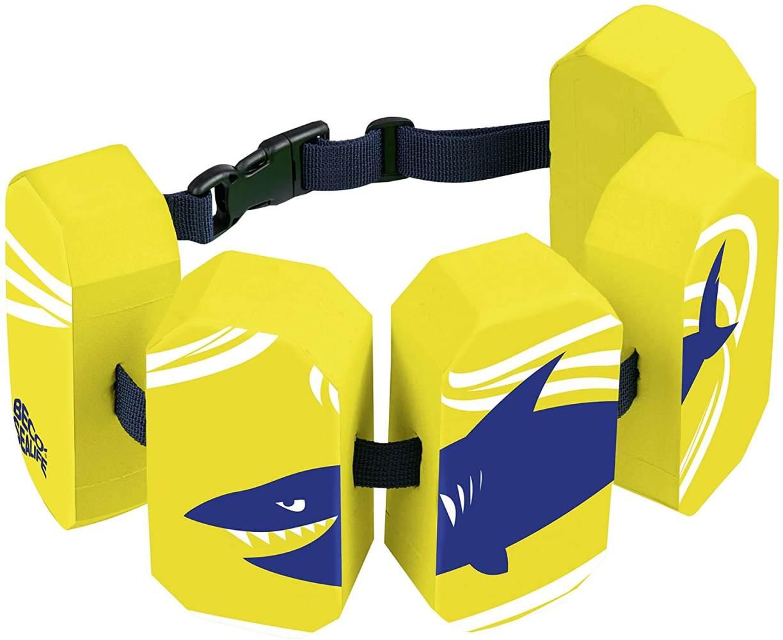 BECO 'Sealife' Schwimmgürtel, gelb, verstellbares Gurtband mit Patentverschluss, für Kinder von 2-6 Jahren und 15-30 kg Körpergewicht Bild 1