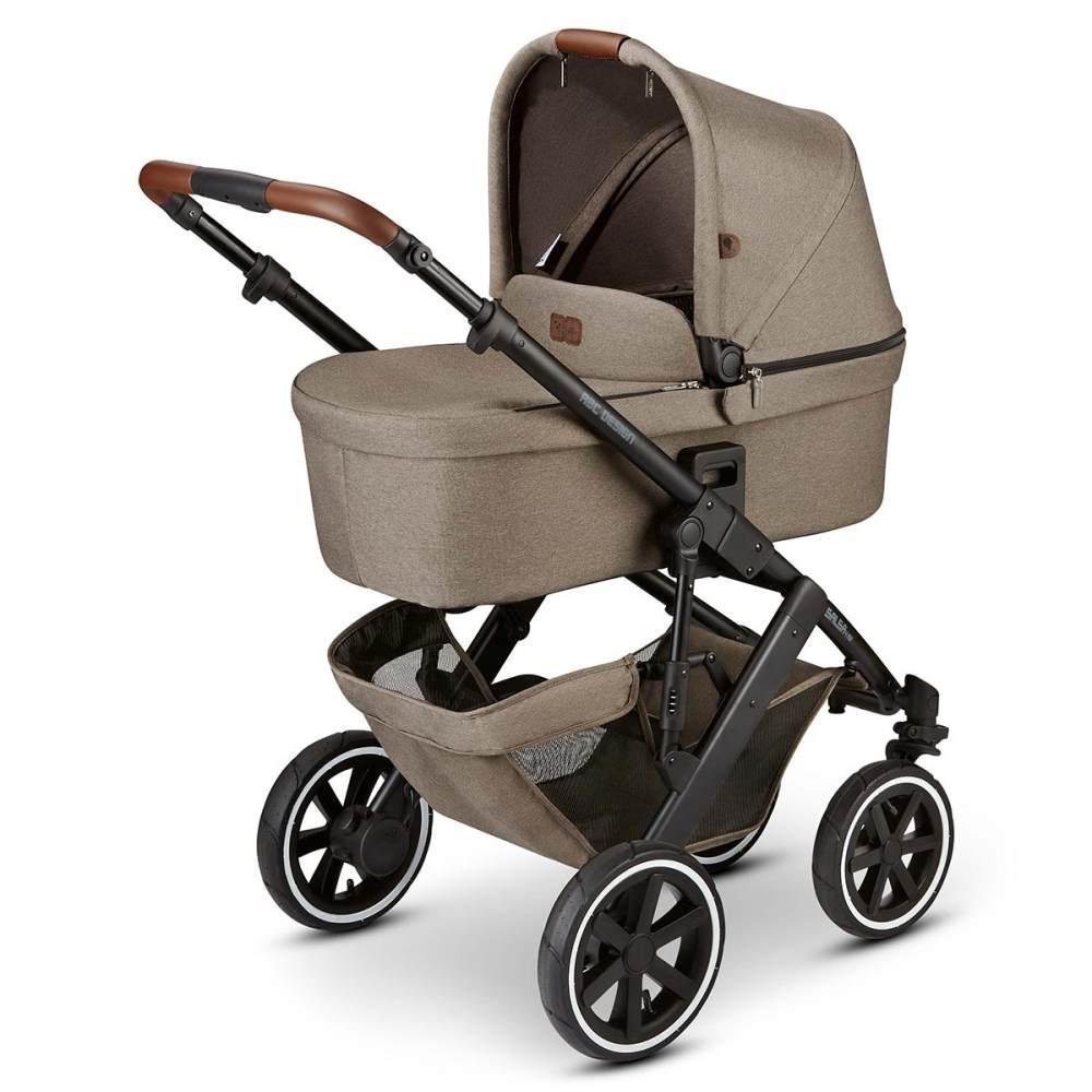 ABC Design 'Salsa 4 Air' Kombikinderwagen 4plusin1 Set M nature inkl. Babyschale soho grey, Wickeltasche, Fußsack und Adapter Bild 1