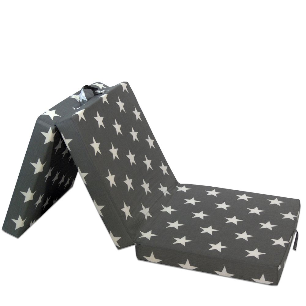 Wolkenwunder Klappmatratze, Sterne Grau 190x70x9 cm Bild 1