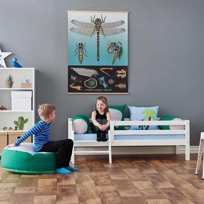 Hoppekids 'Premium' Einzelbett inkl. Absturzschutz und Rahmenlattenrost,90x200cm Bild 1
