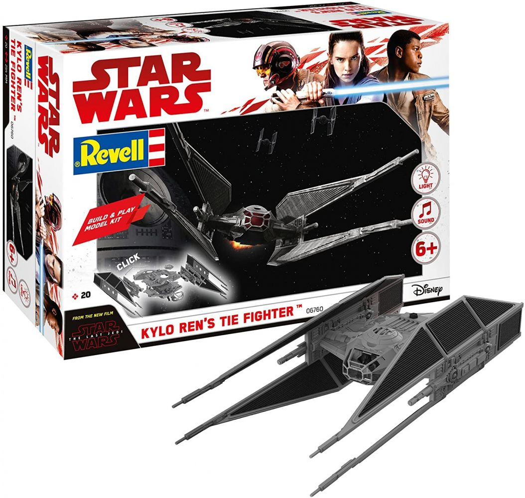 REVELL 06760 - Star Wars Modellbausatz Build & Play - Kylo Rens TIE Fighter 1:70 Bild 1