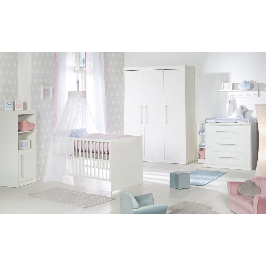 Roba 'Maren' 3-tlg. Babyzimmerset, weiß, aus Babybett 70x140 cm, Wickelkommode und 3-trg. Kleiderschrank Bild 1