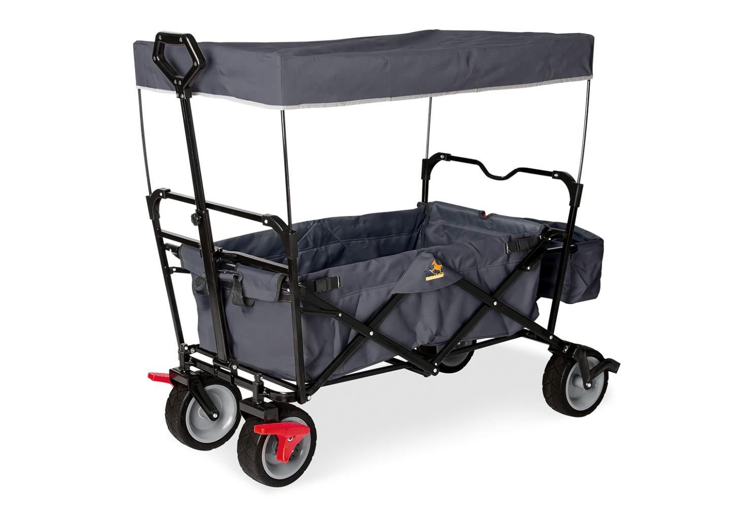Pinolino 'Paxi dlx Comfort' Klappbollerwagen in Anthrazit, inkl. Feststellbremse, Sonnendach, Hecktasche Bild 1