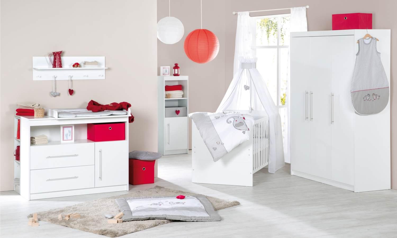 Roba 'Maren' 3-tlg. Babyzimmer-Set weiß inkl. Kinderbett, Wickelkommode und Kleiderschrank Bild 1