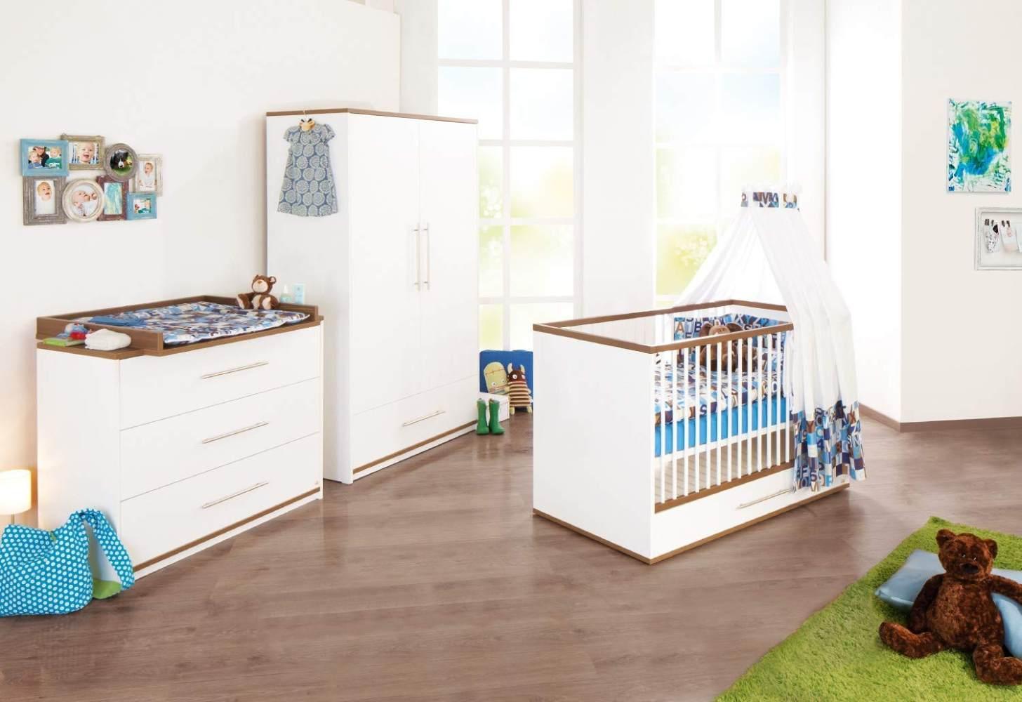 Pinolino 'Tuula' 3-tlg. Babyzimmer-Set weiß Bild 1