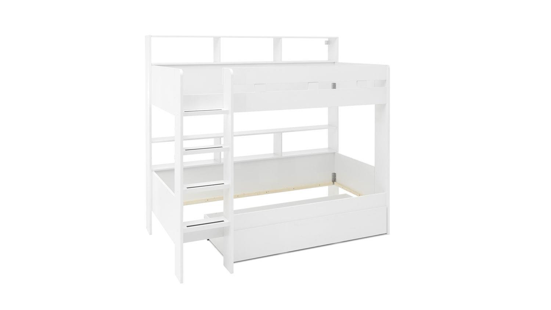Bega 'Gaius' Etagenbett weiß, 90x200 cm, inkl.Bettkasten Bild 1