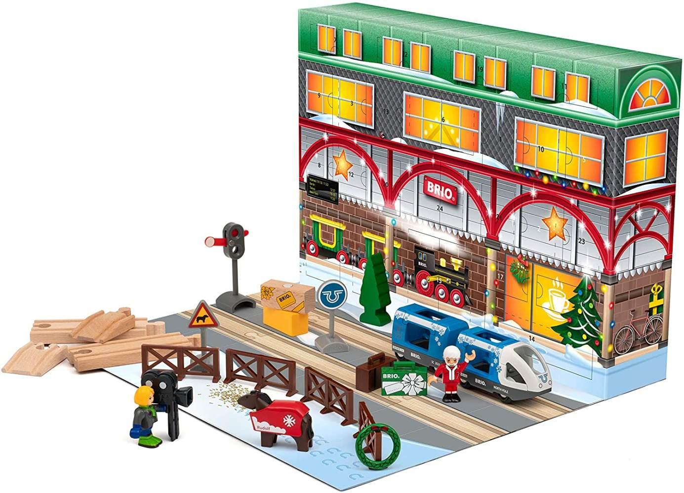 Brio Adventskalender 2020 - Eisenbahn Weihnachtskalender mit 24 Teilen - 33848 Bild 1