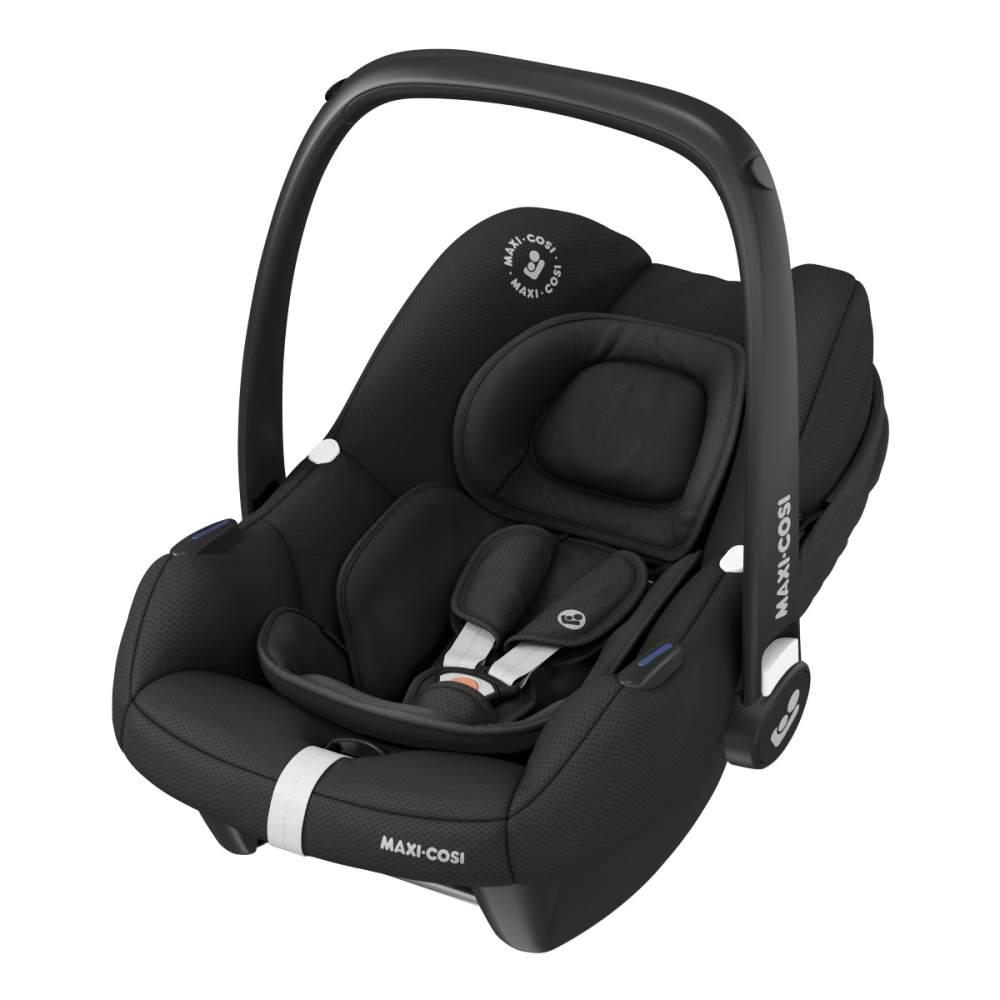 Maxi-Cosi 'Tinca i-Size' Babyschale 2020 Essential Black, 0-12 kg (45 bis 75 cm), mit Seitenaufprallschutz, inkl. Sonnenverdeck Bild 1